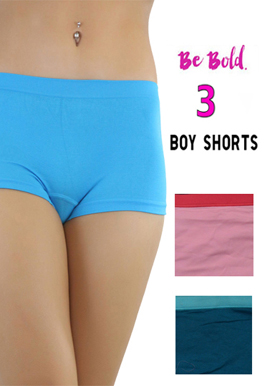 Plus size boy shorts snazzyway