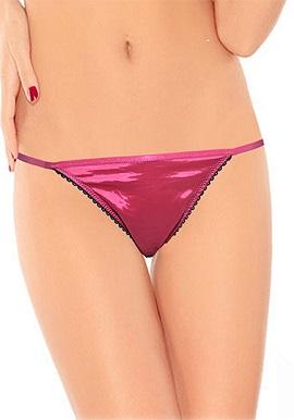 Splash Soft Edge Lace Trim G-String Thong
