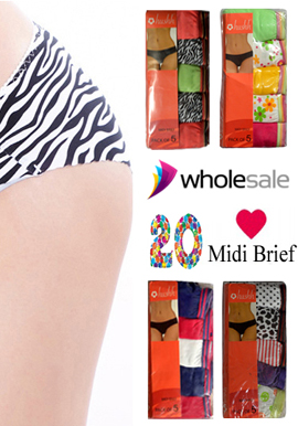 Wholesale Midi Brief Cool Cotton Panties Lot Of 20