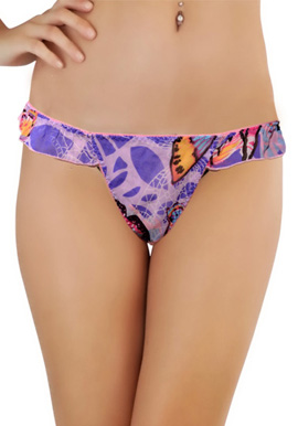 Women's Butterfly Multi-Printed Thong By Splash