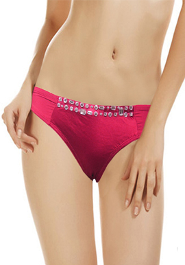 Women's Front Stone Pack of 2 Thong (1)