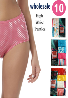 Women's Wholesale Lot of 10 sexy high Waist Panties