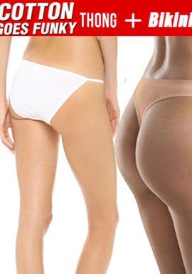 Combo Of Soft String Sleek Bikini And Thong Panties