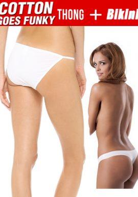 Cotton Comfy Set Of String Bikini And Thong Panties