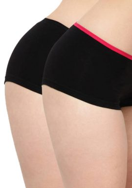 About U Pack Of 2 Lady's Comfy Boyshort Brief