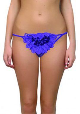 Blushing Center Rose Double String Thong Underwear