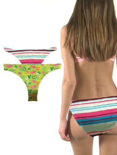 Alive Multi Color Bikini Brief Set Of 2