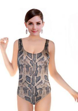Women's Sexy Snake Matching Print Swimsuit