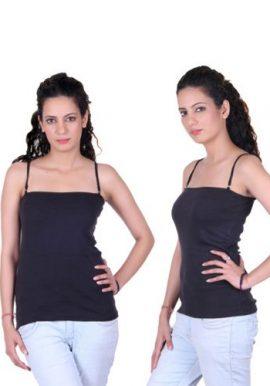 Beautiful Black Pack Of 2 Ladies Camisoles