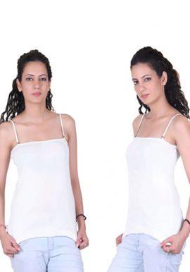 Beautiful White Pk Of 2 Ladies Camisoles