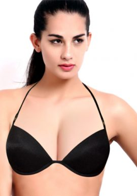 Black Sexy Demi Coverage Underwired Padded Bra