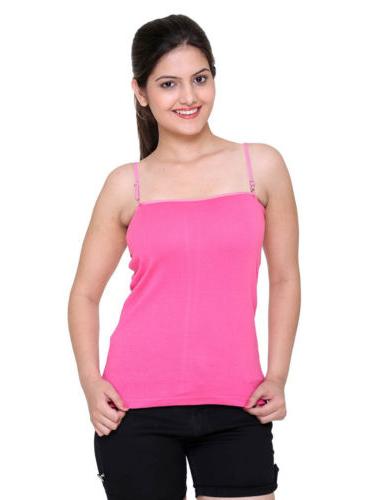 Ladies-Pink-Detachable-Straps-Camisole-Pk-Of-2