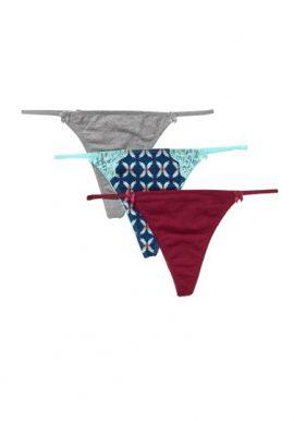 3-Pack Comfy Cotton No Show Thong Panties