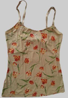 D&G Light Brown Flower Print Adjustable Camisole