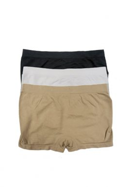 Women's 3 Assorted Plain Seamless Boyshorts