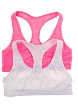 Bpc Buit-Up Racerback Girls Sports Bra 2-Pack