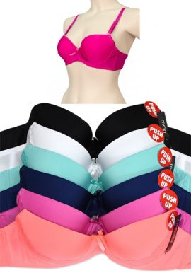 Wholesale Lot 6 Multi Colors Push-UP Bras- Hushh