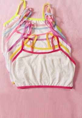 Wholesale Lot Of 6 Young Girls Cotton Bras