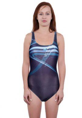 Adidas Dark Navy Cutout Back One Piece Swimwear