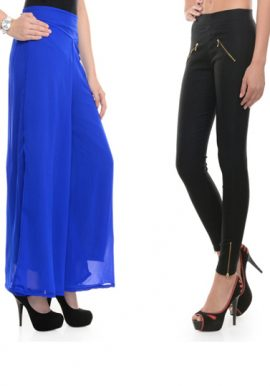 Special Offer- Blue And Black 2 Classy Trousers