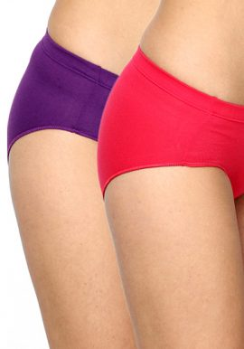 Westren Beauty Mid Rise Plus-Size Panties 2-Pack