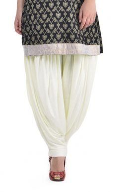 White Comfortable Patiala Cotton Salwar