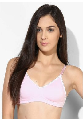 Lovable Pk Of 2 Smooth Slim Fit Baby Pink Cotton Bra