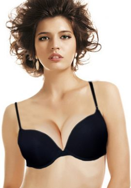 Wonderlove Black Classic Smooth Padded Underwired Bra