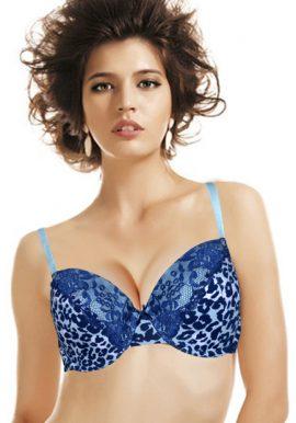 Wunderlove Chic Leopard Print Lace Underwire Bra