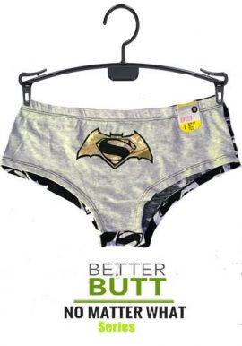 Batman Vs Superman Grey Boyshort Panty
