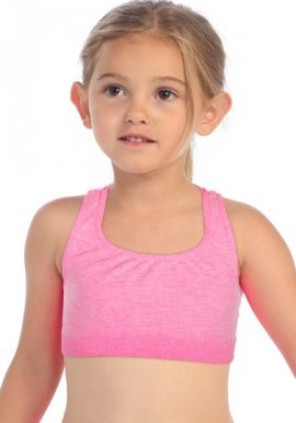 Bpc Kids Performance Baby Pink Sports Look Crop Top