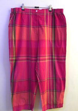 Liz Claiborne Tartan Check Print Pink Capri Pant