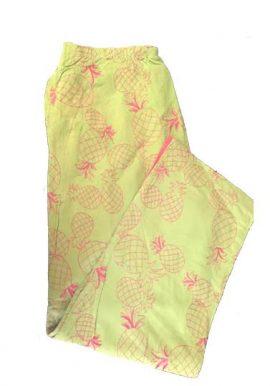 Mureli Pineapple Thread Print Capri With Half Elastic Back Waistband