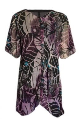 Women's Loose Fitted Shining Sheer Coated Long Tunic