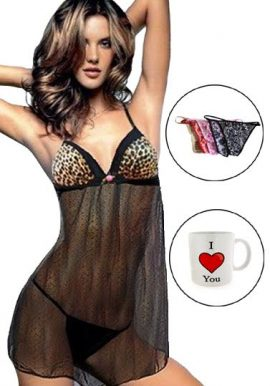 Sexy D&G Sleepwear Costume Gift Pack For Your Valentine Lady