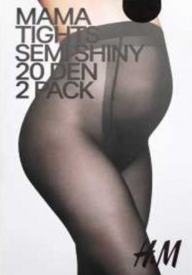 H&M Mama Tights Semi Shiny 20 Den 2 Pk Pantyhose