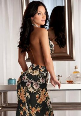 Snazzyway Beautiful Floral Halter Tie Open Back Babydoll