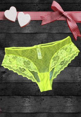 George Lemon Yellow Full See Through Net Lace Brief