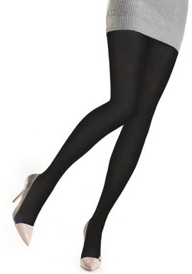 Gerbe Luxurious & Plushy Dark Black Tights