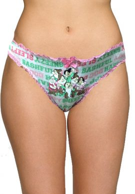 Disney Happy Sleepy Print Trimmed Lace Panty