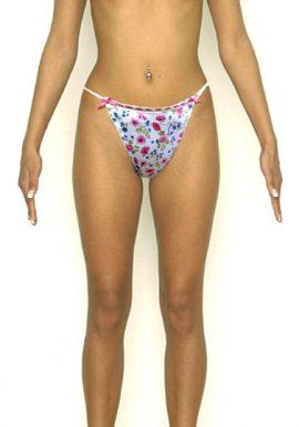 Floral & Fishnet Print Details Stunning String Thongs-2