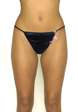 Ann Summers Attached Side Contrast Bows Exotic T Back Thong