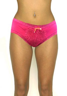 Ladies Fashion Peach Lace Hipster Panty