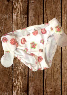 Kiabi White Side Wings Cute Printed Bikini Cut Panty