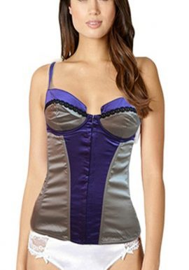 D&G Purple Grey Front Open Underwired Camisole