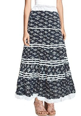 Black White Printed Skirt |India|best|buy|online|