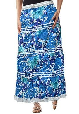 Blue White Mix Printed Skirt |buy|online|best|