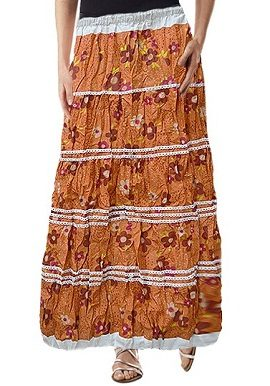 Brown Floral Printed Skirt |buy|online|India|best|