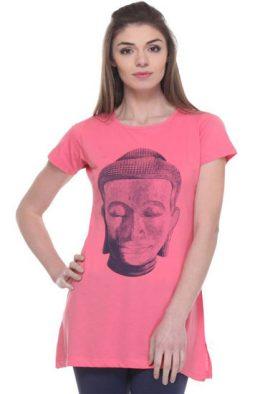 Buddha Printed Pink Comfy Tunic