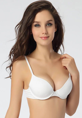 Comfy Padded & Underwired White Bra |buy|online|India|